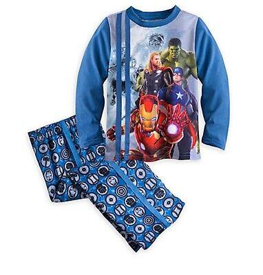 Disney Store Avengers Super Hero Pajamas Iron Man Hulk Boys 2 3 4 5/6 7/8 9/10