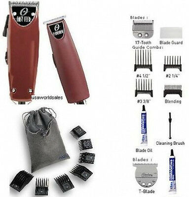 Oster Fast Feed + T-Finisher + 10pc Combs Clipper Combo