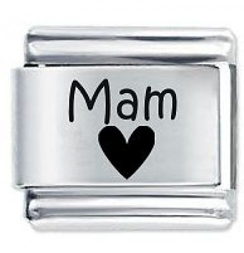 4 Ever heart . 9mm  Italian charm Compatible with all 9mm bracelets