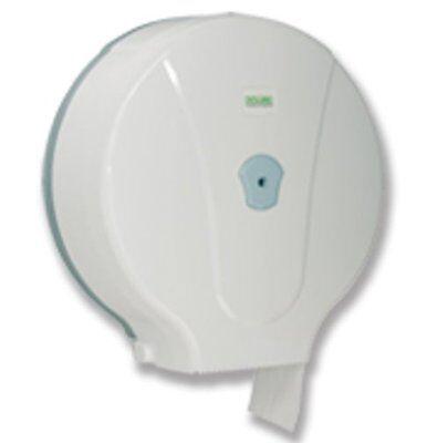 Toilettenpapierhalter, WC Papierspender Jumbo, Kunststoff, weiß,