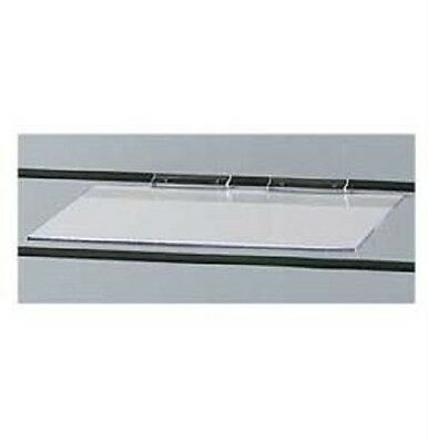 25 Slatwall Shelves Shelf Shoe 12 X 6 Flat Styrene Clear Acrylic Slat Grid