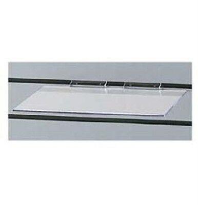 12 Slatwall Shelves Shelf Shoe 12 X 6 Flat Styrene Clear Acrylic Slat Grid