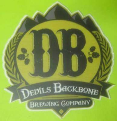 DB, DEVILS BACKBONE BREWING COMPANY White Trim Beer STICKER, Lexington, VIRGINIA