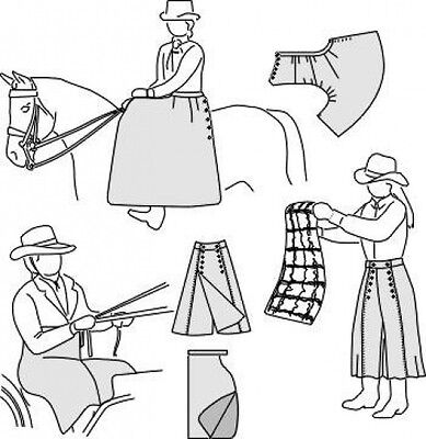 Suitability 6500 Sidesaddle apron, Driving apron, & Riding Skirt Sewing Pattern