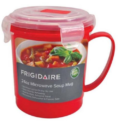 Frigidaire 24oz Microwave Soup Mug, Red, NWT