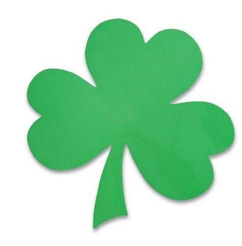 24 Shamrock Magnets - Irish Clover Leaf  - car auto magnet decals (2 dozen)