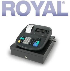 NEW ROYAL ELECTRONIC CASH REGISTER 999 PRICE LOOK UPS - 16 DEPARTMENTS - LOCKING CASH DRAWER - FRONT AND REAR LCD