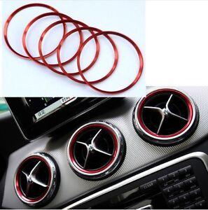 Cornice-Anello-Bocchette-Aria-Mercedes-Benz-Classe-A-B-CLA-GLA-Sticker-Rosso-Red