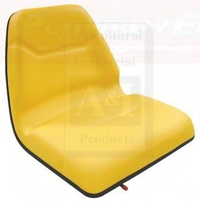 Tms111yl Universal Yellow Tractor Seat W Slide Tracks For John Deere
