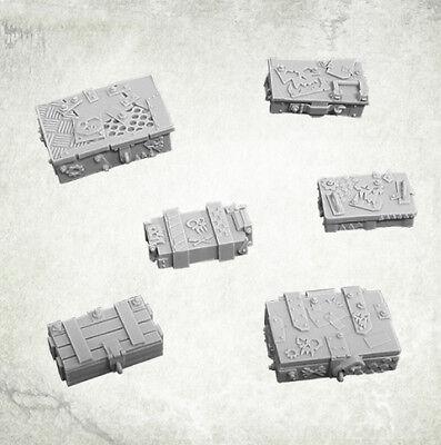 Munitionskisten Orc Junk City Crates (6) Bitz Bits  Kromlech Resin KRBK014