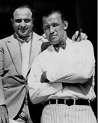 Al Capone and Jack Sharkey Mafia 10x8 Photo