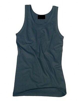 PLAIN Tank Top Vest Singlet  BLACK