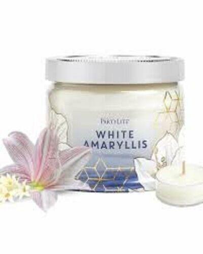 Partylite WHITE AMARYLLIS SIGNATURE 3-wick JAR CANDLE  BRAND NEW  NIB