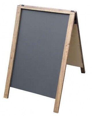 A Frame Sidewalk Sign Economy Dark Hardwood With Chalkboard Panels 22 X 28 Xx