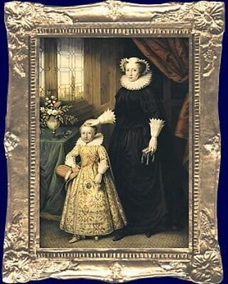 Mary Queen Of Scots Dollhouse Miniature Framed Picture   Made In America