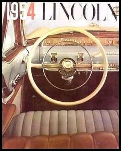 1954 Lincoln Dlx. Brochure, Capri, Cosmopolitan