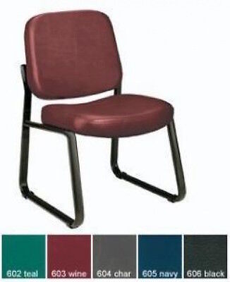 OFM 405-VAM Sturdy Antibacterial Armless Guest Reception Conference Vinyl Chair (Ofm Guest Reception)