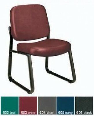 Ofm 405-vam Sturdy Antibacterial Armless Guest Reception Conference Vinyl Chair