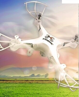 Xtreme Dead white XFlyer Ready-to-Fly 6 Axis Quadcopter Drone with HD Camera XDG61003