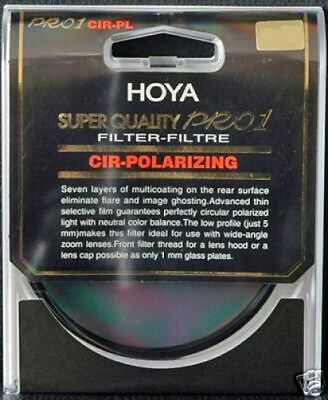Original 62mm Hoya Super Quality Thin PRO 1 Circular Polarizer Filter The