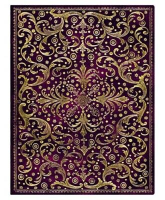 """Paperblanks Journal Rococo Gold """"Aurelia"""" Lined Ultra 7 x 9"""" Book Writing"""