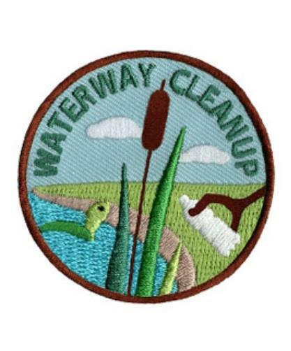 Girl Boy Cub WATERWAY CLEAN UP Fun Patches Crests Badges SCOUT GUIDE River Creek