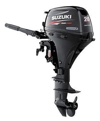 "Suzuki 20hp DF20ATL Outboard, EFI, 4-stroke, 20"" Shaft - Electric - Tiller"