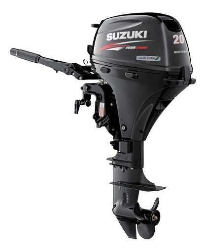 "Suzuki 20hp Df20atl Outboard, Efi, 4-stroke, 20"" Shaft - Electric - Tiller"