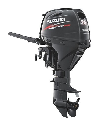 "25hp Suzuki Df25aths, 4-stroke, 15"" Short Shaft - Electric Start - Tiller New"