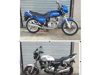 Swap 2 x Classic Bikes for Harley Evo FXR Dyna XR1200X 48 Rocket 3 Suzuki VZR M 1800 Intruder
