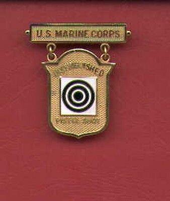 Marine Corps USMC Distinguished Pistol Shot badge