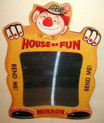 DQ Dairy Queen Party Clown Fun House Mirror 1960