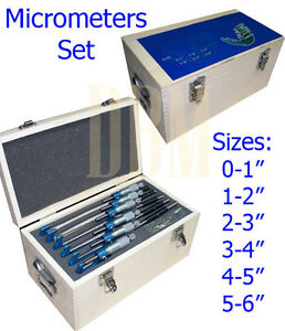 6 PC Micrometers Set  0-1