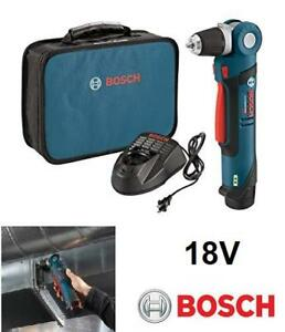 "BOSCH PS11-102 12V 3/8"" ANGLE DRILL DRIVER HIT WITH 1 BATTERY AND CHARGER WITH CASE"