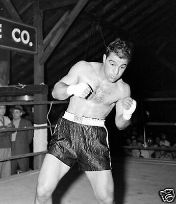 Rocky Marciano Boxing Legend Shadow Box 10x8 Photo