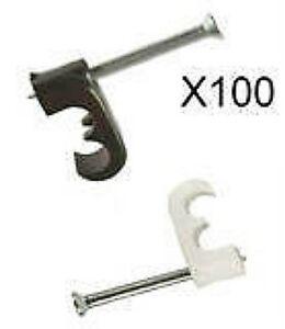 TWIN-CABLE-CLIPS-SKY-HD-WF63-SHOTGUN-DOUBLE-BLACK-WHITE-CLIP-FREESAT-PLUS-X-100