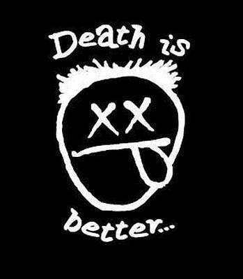 Death Is Better - Face Logo TS women's short sleeve black Razed Soul