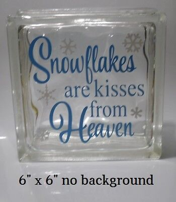 Snowflakes are Kisses from Heaven Christmas Decal Sticker for 8