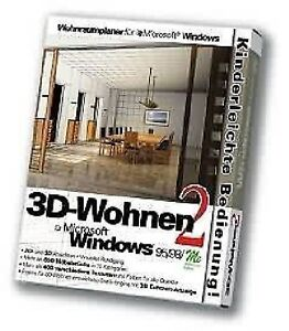 3d wohnen vol 2 einrichtungsplaner f r pc neu ovp ebay. Black Bedroom Furniture Sets. Home Design Ideas