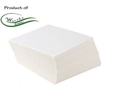 Parchment Paper Squares 250 Pack (All Sizes Available) by Worthy Liners