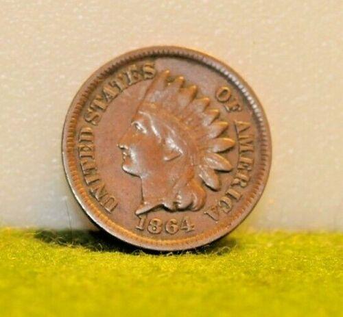 1864 Bronze Indian 1c Full xf no damage!!