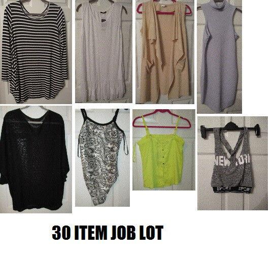 NEW JOB LOT 1... LADIES CLOTHES 30 ITEMS GRAB A BARGAIN WHOLESALE JOBLOT