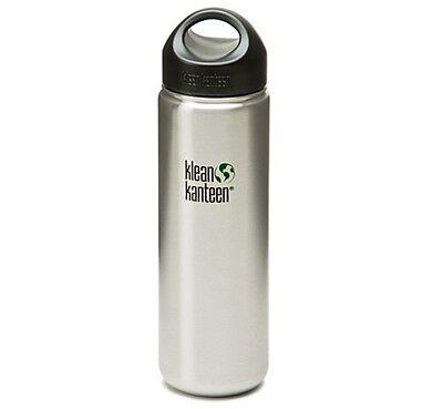 Klean Kanteen 800ml Kanteen Wide Water Bottle Stainless (w/Loop Cap) RRP £15.95