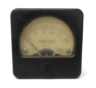 Hoyt Amperes A.c. Panel Meter Gauge Model 636 Approx 2 38 X 2 38