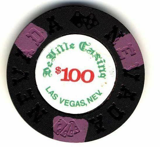 DeVille Casino Las Vegas $100 Chip 1973