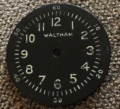 Waltham A11  Signed Military Watch Dial