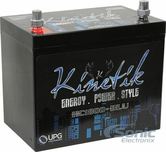KINETIK HC1800-BLU 1800 Watt Car Battery/Power Cell 12V High Current AGM HC1800