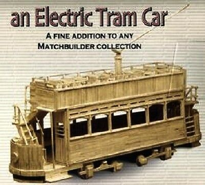 ELECTRIC TRAM CAR 1908 matchstick model kit - NEW Craft Matchbuilder