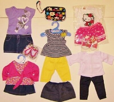 "Huge DOLL CLOTHES LOT fits 18"" AMERICAN GIRL~ Outfits, Sandals, Shoes NEW #48"