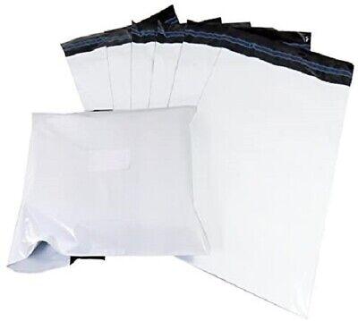 *FREE POST*  100 White Mailing Parcel Postal Bag Plastic Post Self Seal 10 X 14